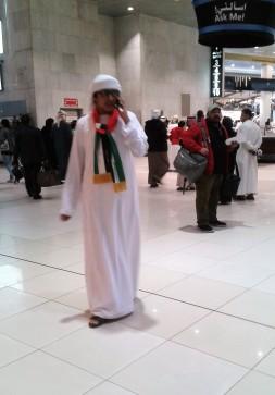Kuwait impressions nachthemd mit Schal