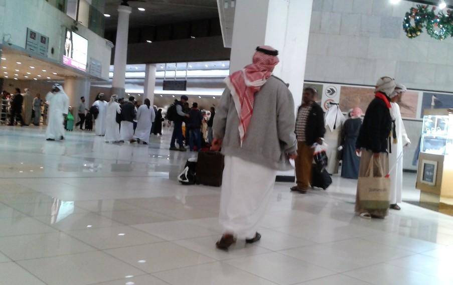 Kuwait impressions nachthemd mit turban