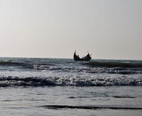 Boot im Meer bearbeitet